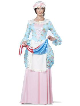 Colonial Betsy Ross Costume For Adults