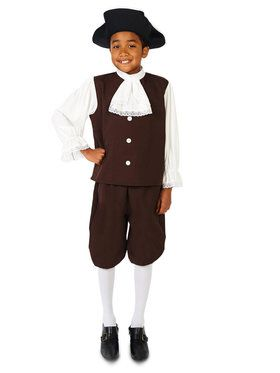 Colonial Boy with Jabot Costume For Children