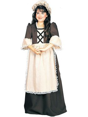 Colonial Girl Costume For Children