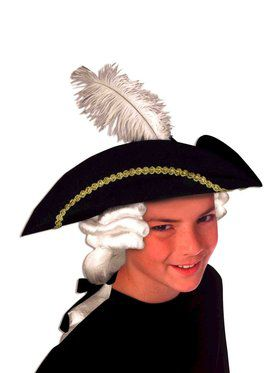Colonial Hat and Wig Set Child