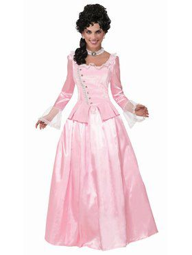 Colonial Maiden - Pink - Standard Adult Costume