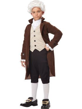Colonial Man Boy's Costume