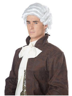 Colonial Man White Wig