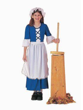 Colonial / Pilgrim Girl Child Costume