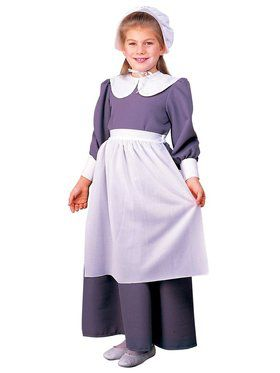 Colonial / Pilgrim Girl Kids Costume