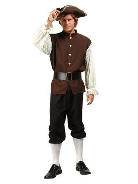 Colonial / Pilgrim Peasant Men's Costume