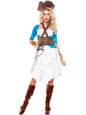 Colonial Pirate Adult Costume for Halloween