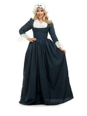 Women's Navy Blue Colonial Woman Costume