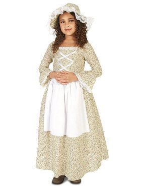 Colony Girl Costume For Children