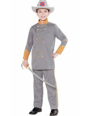 Confederate Officer Boys Costume