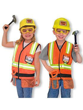 Construction Worker Kids Costume