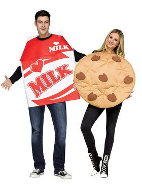Cookies & Milk Adult Costume ( 2 costumes)
