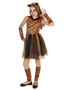 Cool Cat Tigeress Tween Costume for Halloween