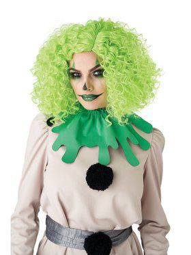 Corkscrew Adult Clown Curls Wig