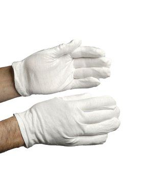 Cotton Clown Gloves White