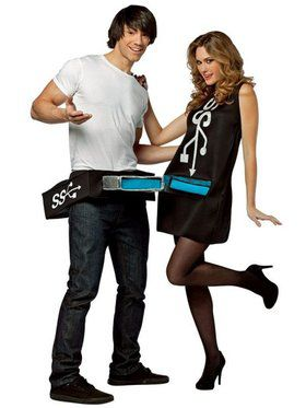 Couples USB Port & Stick Costume