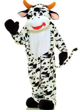 Plus Size Cow Plush Economy Mascot Costume For Adults
