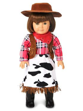 "Cowgirl Princess 18"" Doll Costume"