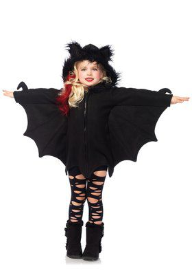 Cozy Bat Girl's Costume