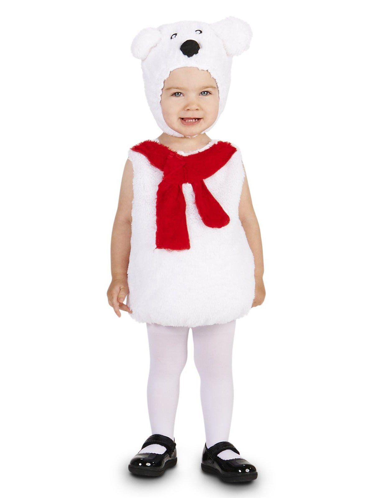 cozy polar bear infant costume for halloween