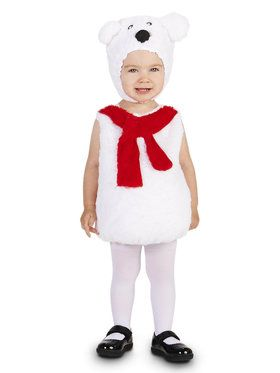 Cozy Polar Bear Toddler Costume for Halloween