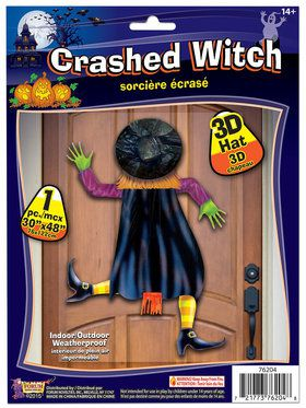 Crashed Witch Prop with 3-Dimensional Hat