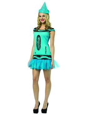 Crayola Glitz And Glitter Steel Blue Teen Costume