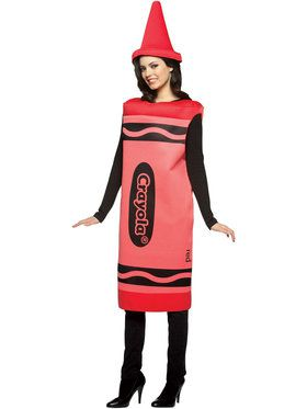 Crayola Red Crayon Costume For Adults