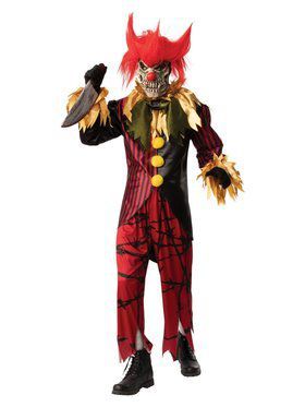 Crazy Clown Costume for Adults