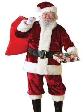 Crimson Regency Plush Santa Suit Plus Size Costume