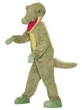 Plus Size Crocodile Plush Costume For Adults