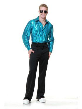 Men's Crocodile Skin Disco Shirt