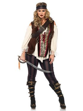 Curvy Captain Blackheart Women's Costume