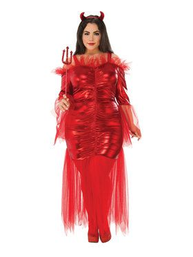 Curvy Red Devil Plus Size Costume for Women