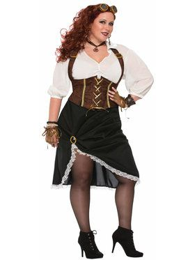 Curvy Steampunk Lady Women's Costume