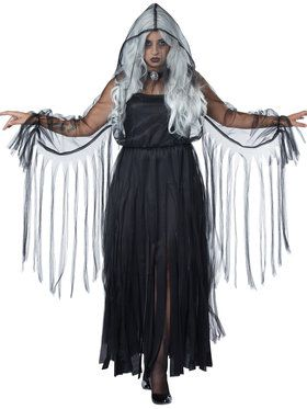 Curvy Vengeful Spirit Women's Costume