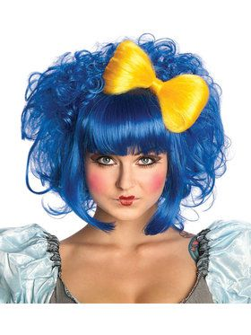 Cutie Doll Blue Wig For Adults
