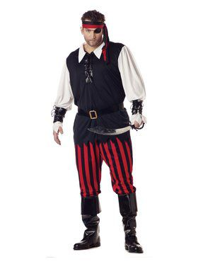 Cutthroat Pirate Mens Plus Costume