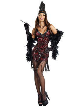 Dames Like Us Sequin Flapper Adult Costume