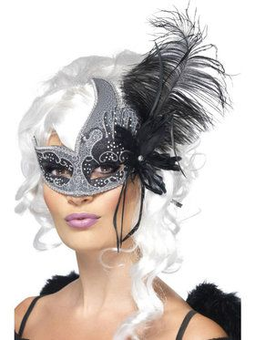 Dark Angel Feather Masquerade Mask