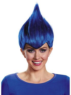 Dark Blue Troll Wacky Wig Child