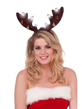 Dark Brown Light Up Antlers Accessories