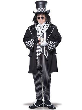 Dark Mad Hatter Men's Plus Size Costume
