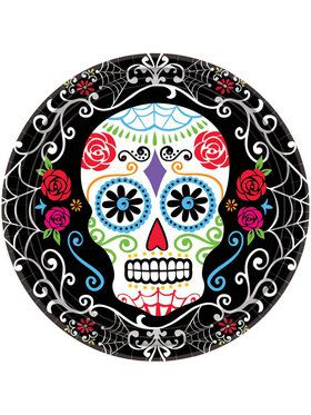 "Day of the Dead 10.5"" Dinner Plates (18 Pack)"