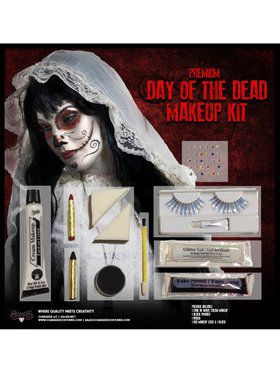 Women's Day of the Dead Makeup Kit