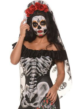 Day of the Dead Mantilla Veil