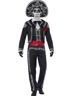 Day of the Dead Senor Bones Men's Costume