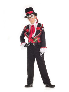 Day of the Dead Senor Child Costume