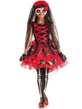 Day of the Dead Senorita Girl's Costume