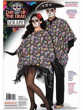 Day Of The Dead - Serape Adult Costume